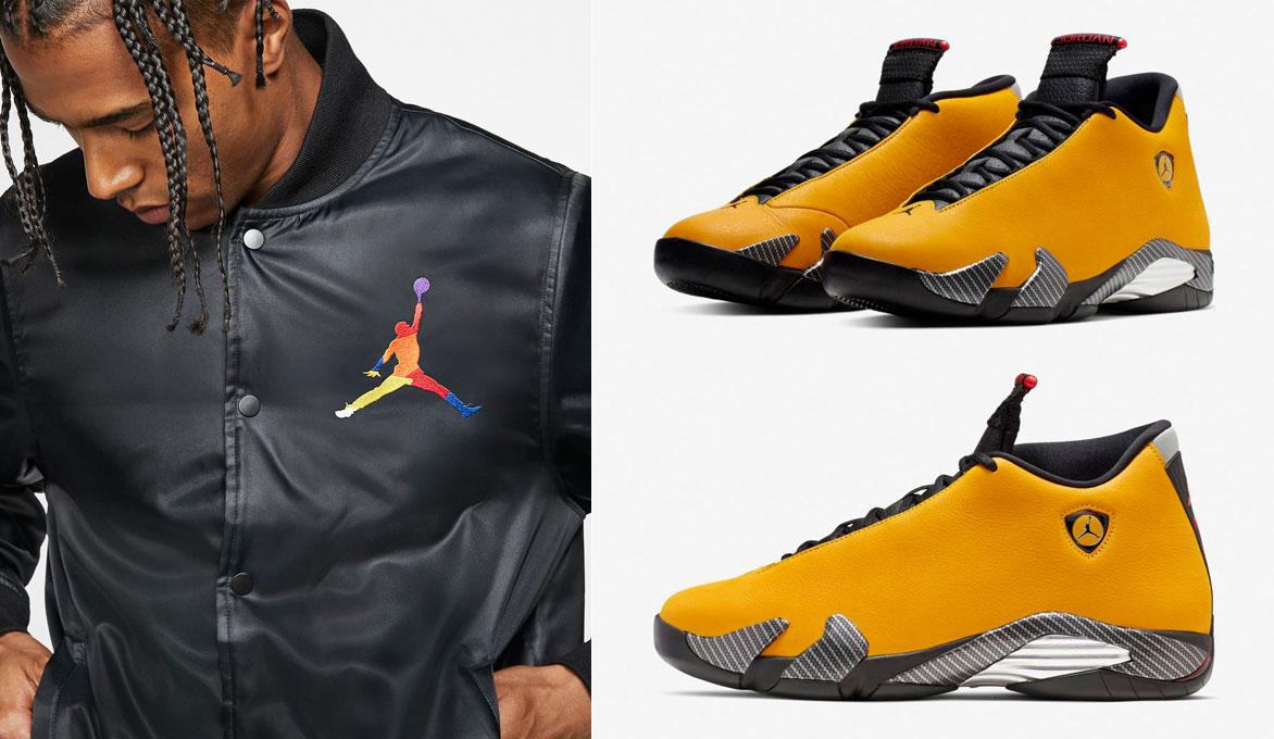air-jordan-14-yellow-ferrari-jacket-match