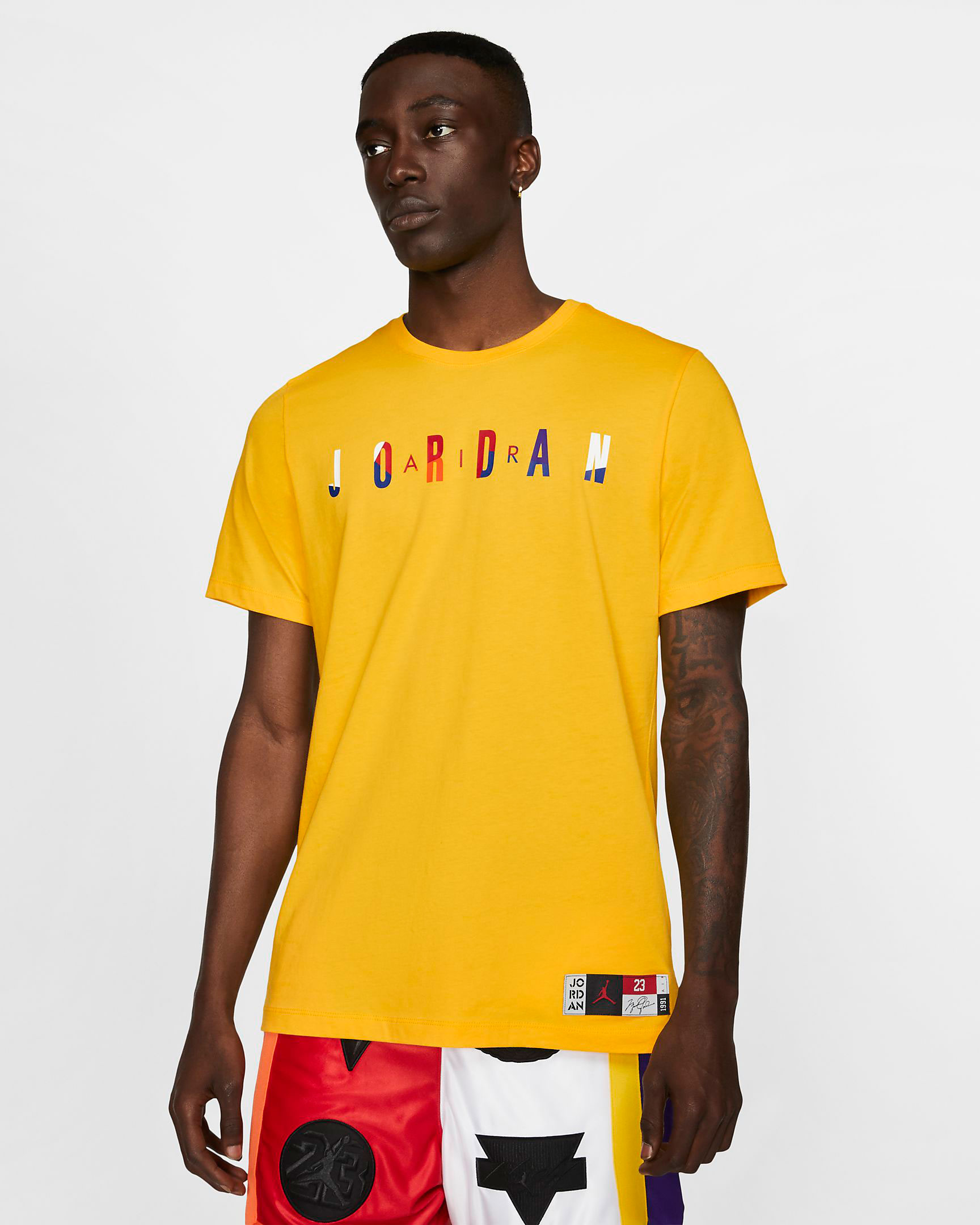 air-jordan-14-yellow-ferrari-shirt-match-1