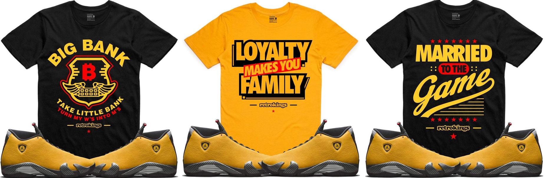 air-jordan-14-yellow-ferrari-sneaker-shirts