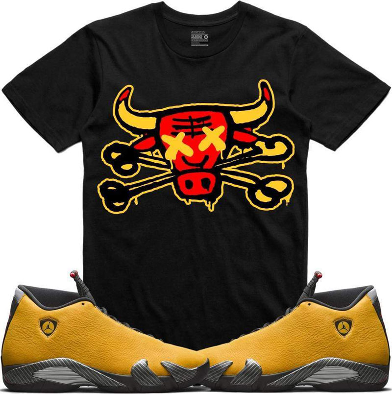 air-jordan-14-yellow-ferrari-sneaker-tee-2