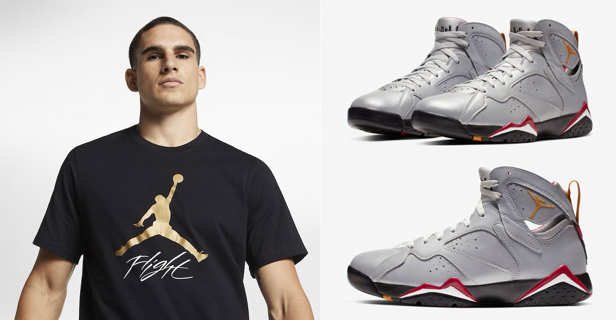 "e13d1d2ae2 Air Jordan 7 ""Reflections of a Champion"" Matching Jordan Clothing Including  Shirts, Shorts and More"