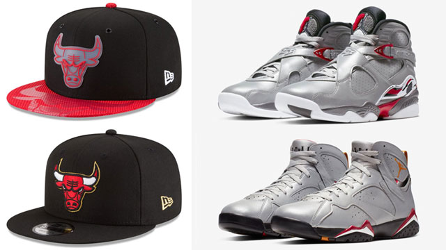 """reputable site 12fdf d89e4 Chicago Bulls New Era Snapback Hats to Match the Air Jordan """"Reflections of  a Champion"""" Collection"""