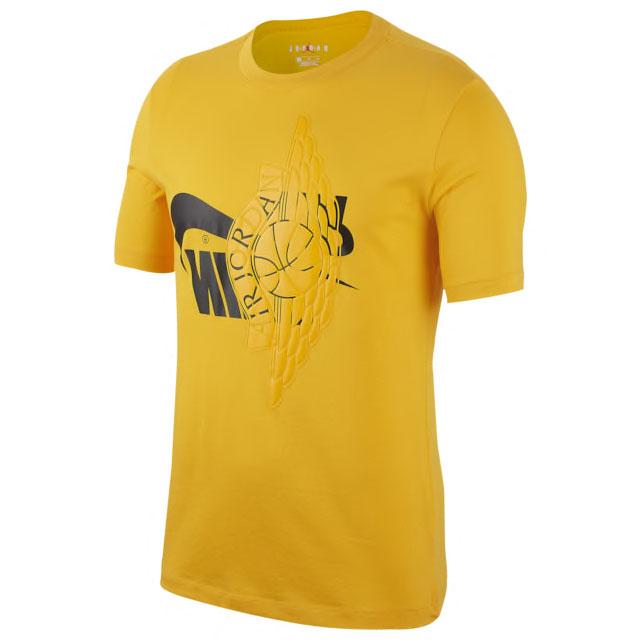 ferrari-jordan-14-reverse-yellow-shirt