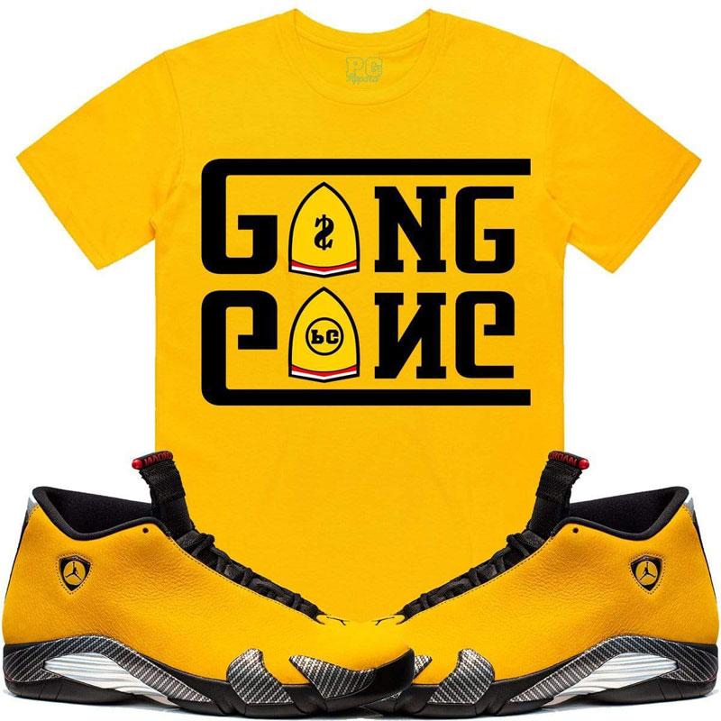 jordan-14-reverse-yellow-ferrari-sneaker-match-tee-shirt-3