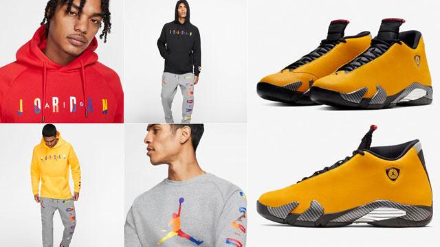 """c8367e2519e Jordan DNA Clothing Collection to Match the Air Jordan 14 """"Yellow Ferrari"""""""