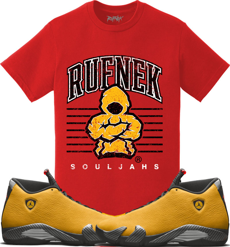 jordan-14-yellow-ferrari-sneaker-match-shirt-1