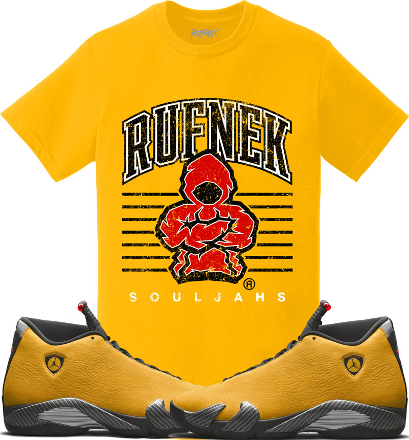 jordan-14-yellow-ferrari-sneaker-match-shirt-2