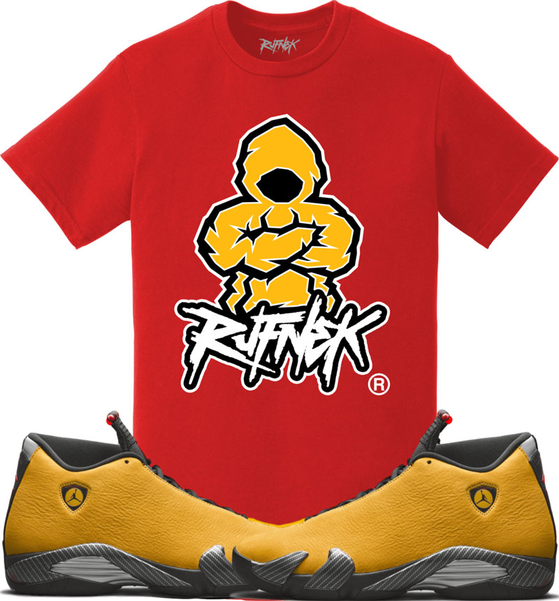 jordan-14-yellow-ferrari-sneaker-match-shirt-3