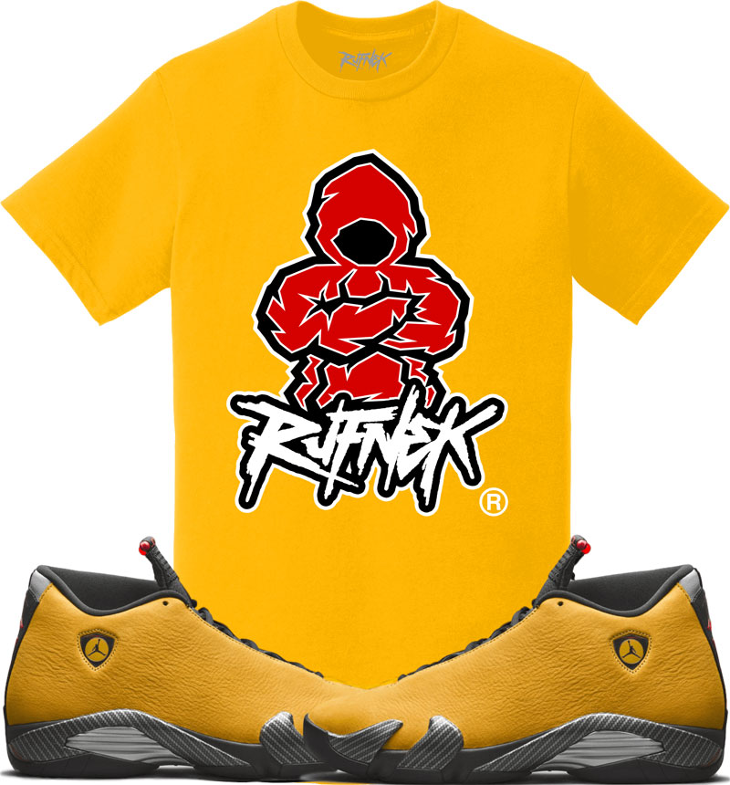 jordan-14-yellow-ferrari-sneaker-match-shirt-4