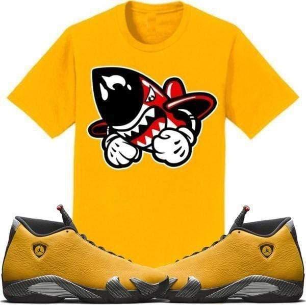 jordan-14-yellow-ferrari-sneaker-match-shirt-bruiser