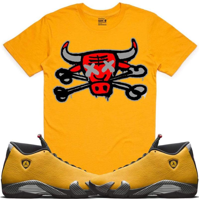 jordan-14-yellow-ferrari-sneaker-tee-shirt-2
