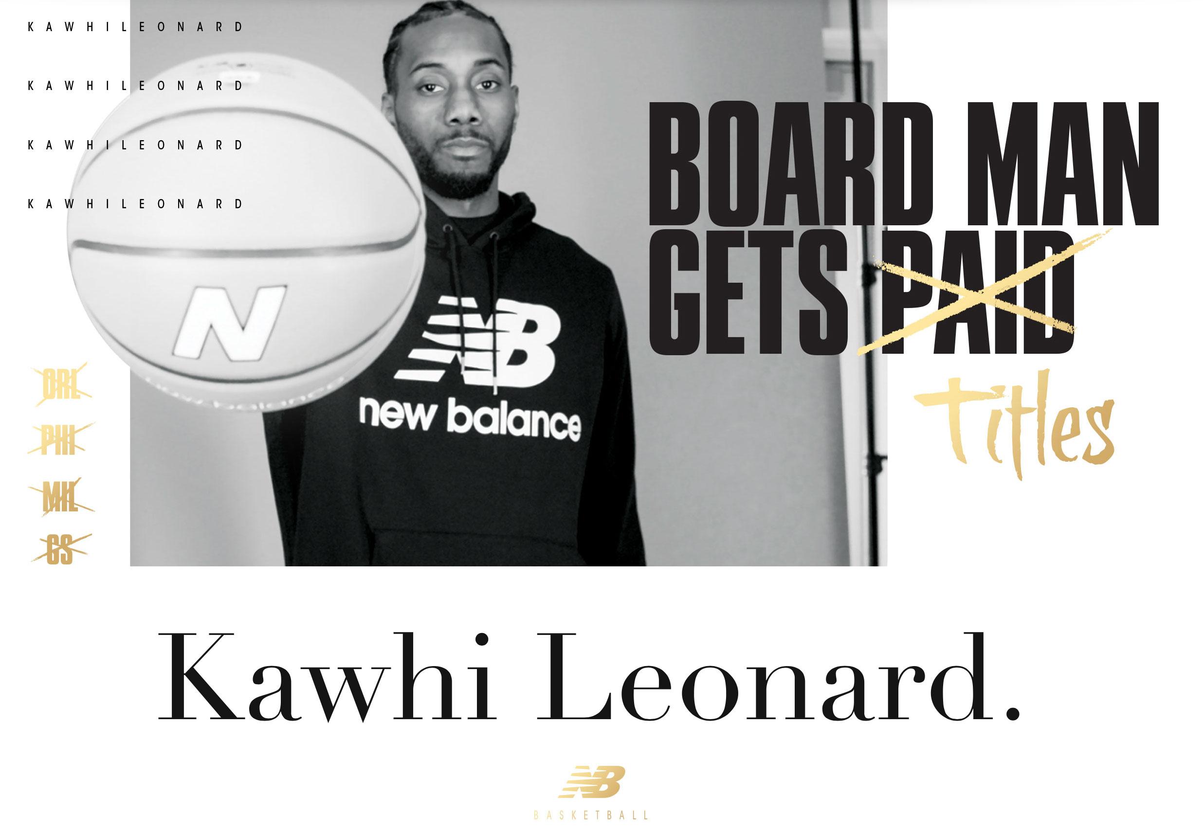Kawhi Leonard New Balance Shirts and