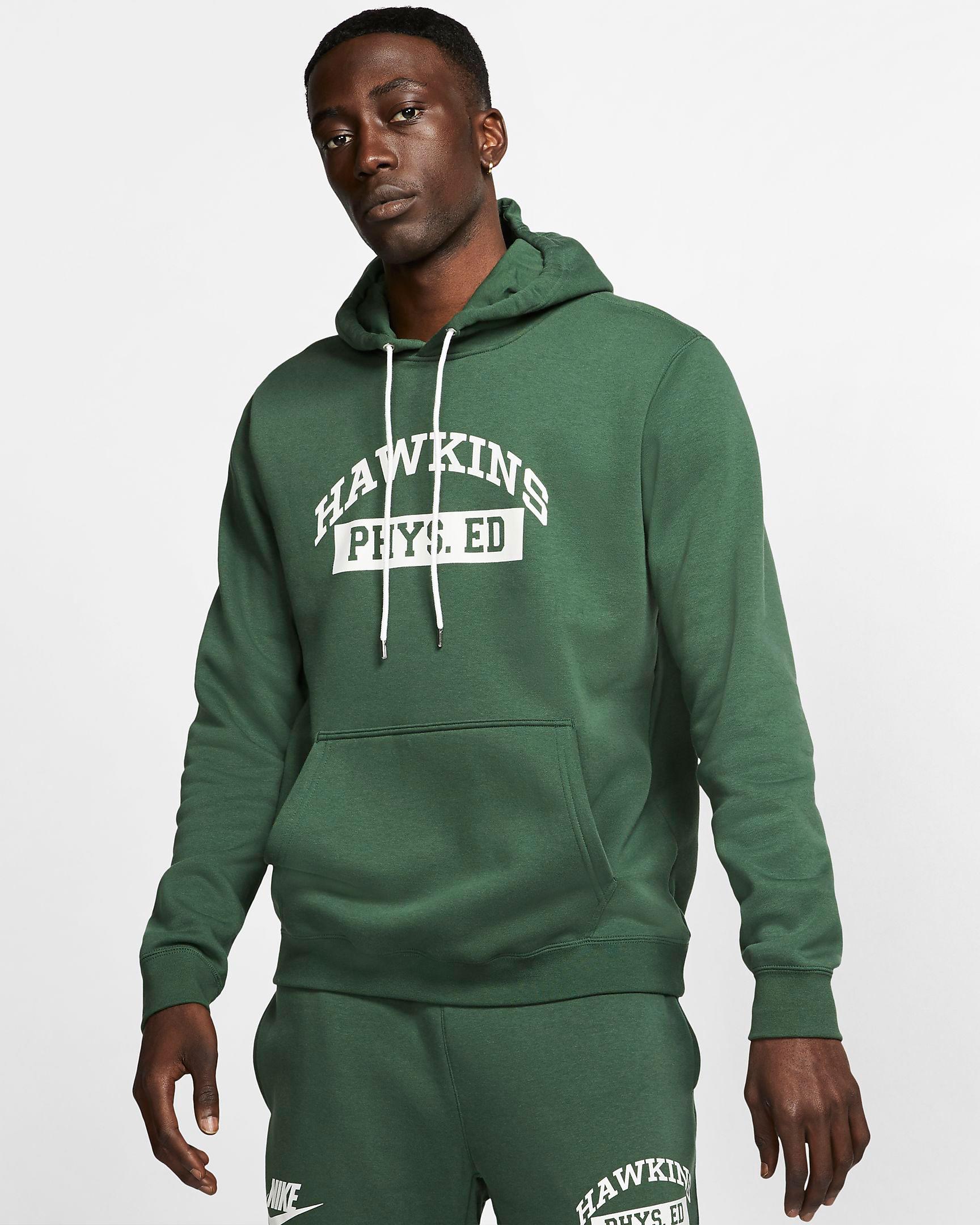 nike-stranger-things-hawkins-high-hoodie-green-1