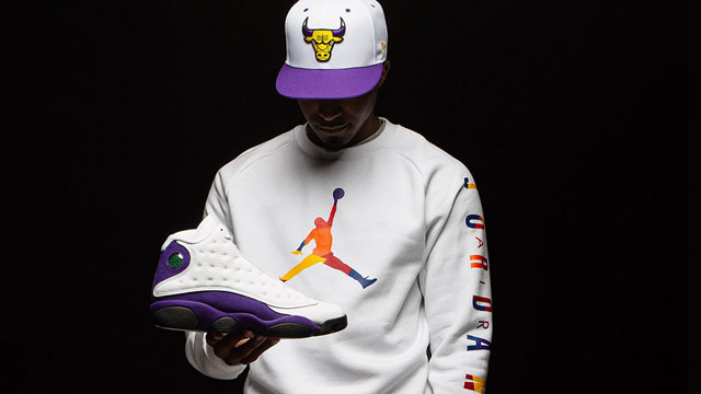 air-jordan-13-lakers-hat-shirt-match