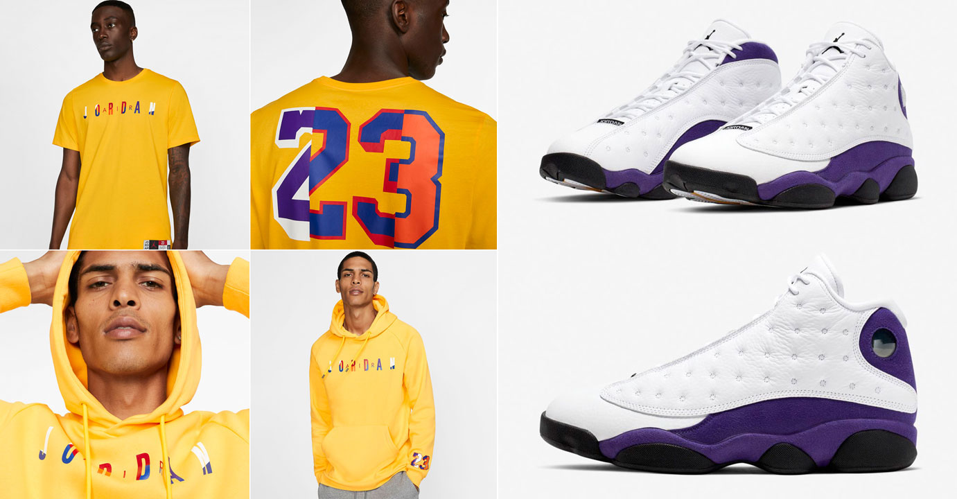 air-jordan-13-lakers-shirts-hoodies-pants-match
