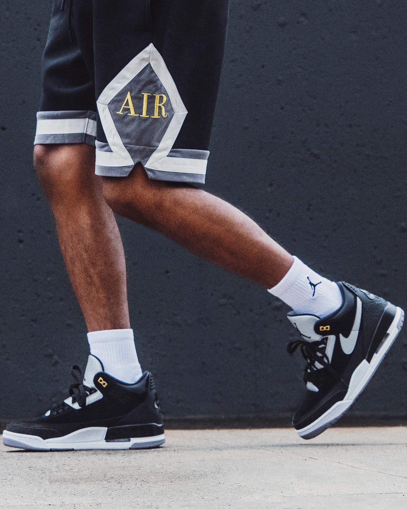 sale retailer 9bb27 ca419 Air Jordan 3 Tinker Black Cement Shorts | SneakerFits.com
