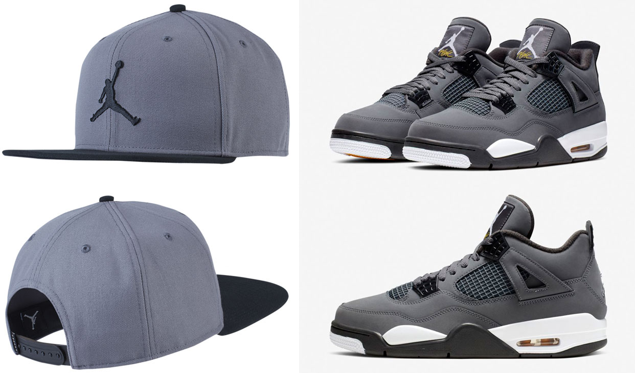 air-jordan-4-cool-grey-2019-snapback-hat