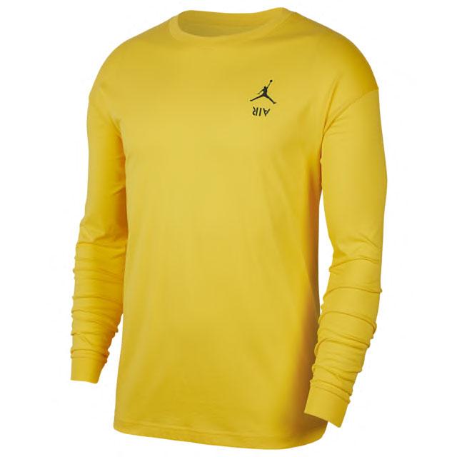air-jordan-4-cool-grey-long-sleeve-tee-yellow-1