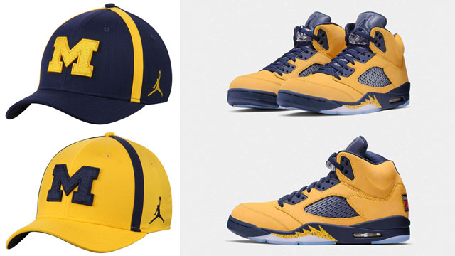 air-jordan-5-michigan-amarillo-navy-caps