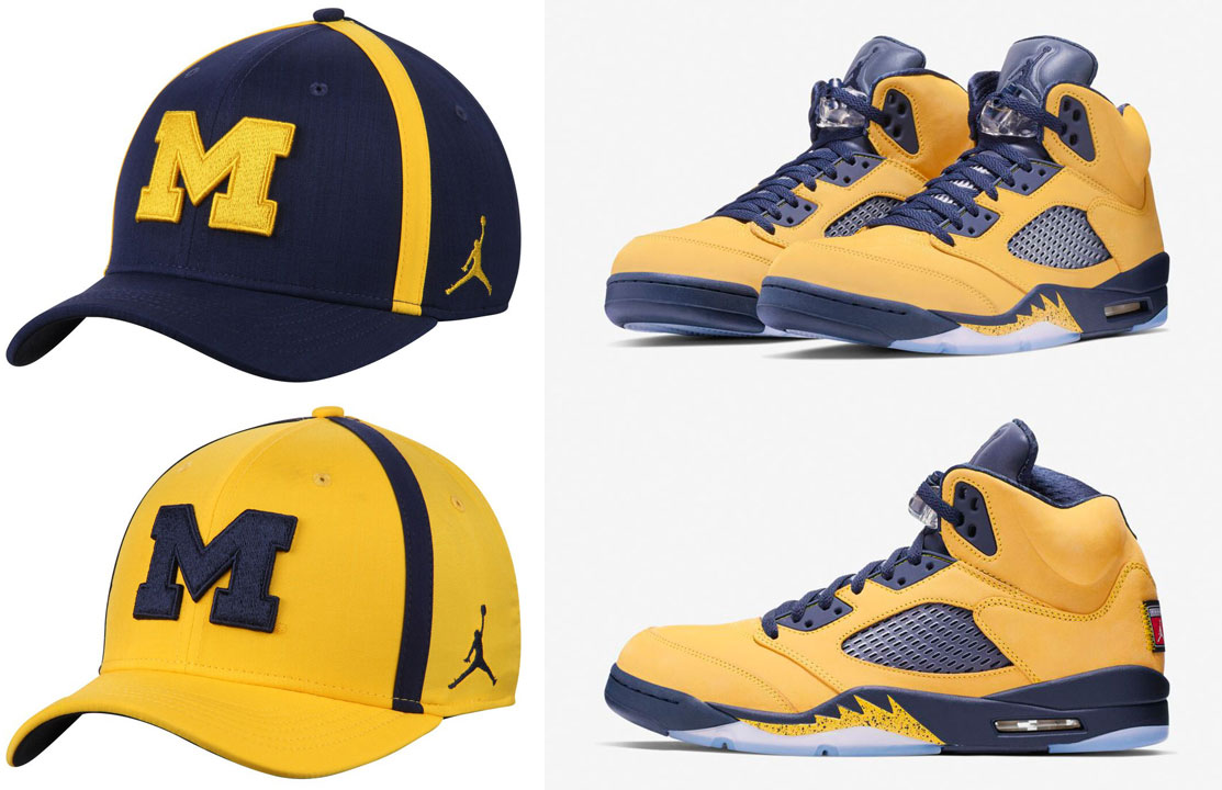 air-jordan-5-michigan-amarillo-navy-hats