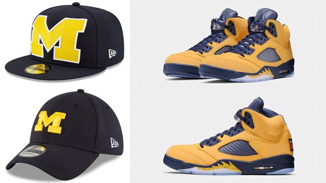 "62324d61d 10 of the Best Michigan Wolverines New Era Caps to Match the Air Jordan 5  ""Michigan"""