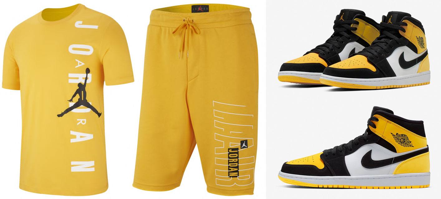 Jordan 1 Yellow Toe Clothing Shirts Match Sneakerfits Com