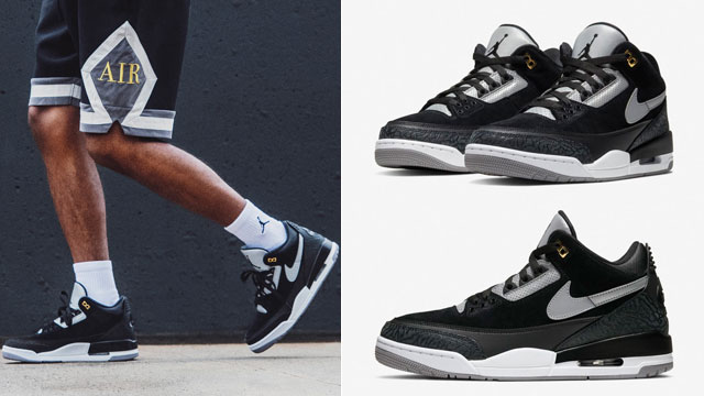 jordan-3-tinker-black-cement-shorts