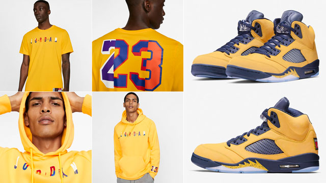 jordan-5-michigan-amarillo-apparel-match