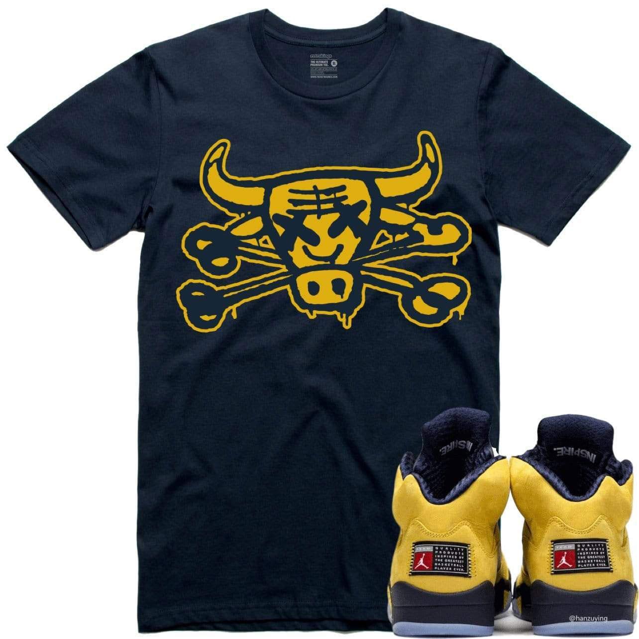 jordan-5-michigan-amarillo-sneaker-tee-shirt-3