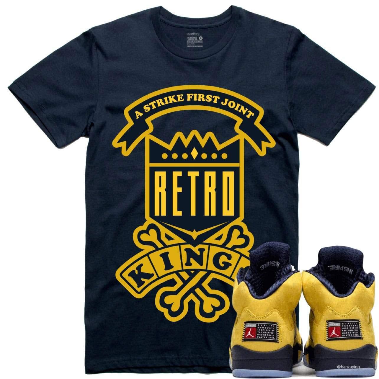 jordan-5-michigan-amarillo-sneaker-tee-shirt-4