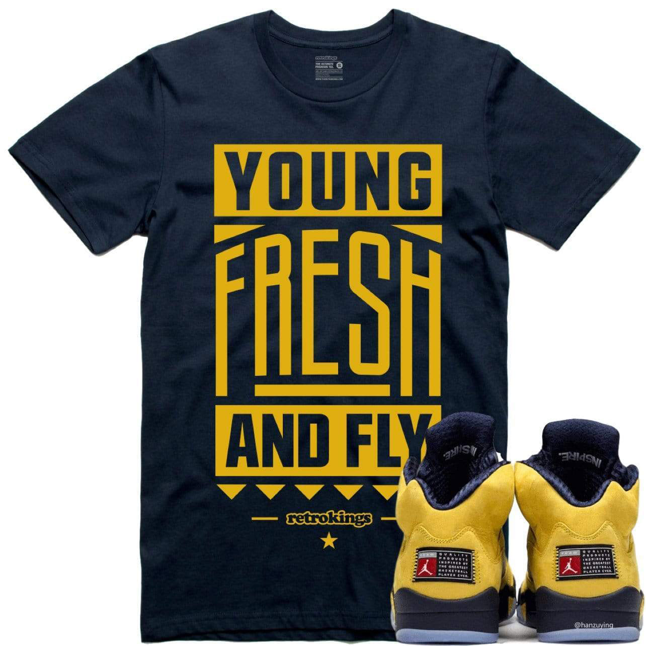 jordan-5-michigan-amarillo-sneaker-tee-shirt-6