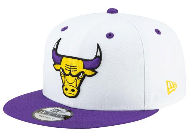 lakers-jordan-13-bulls-snapback-cap-1