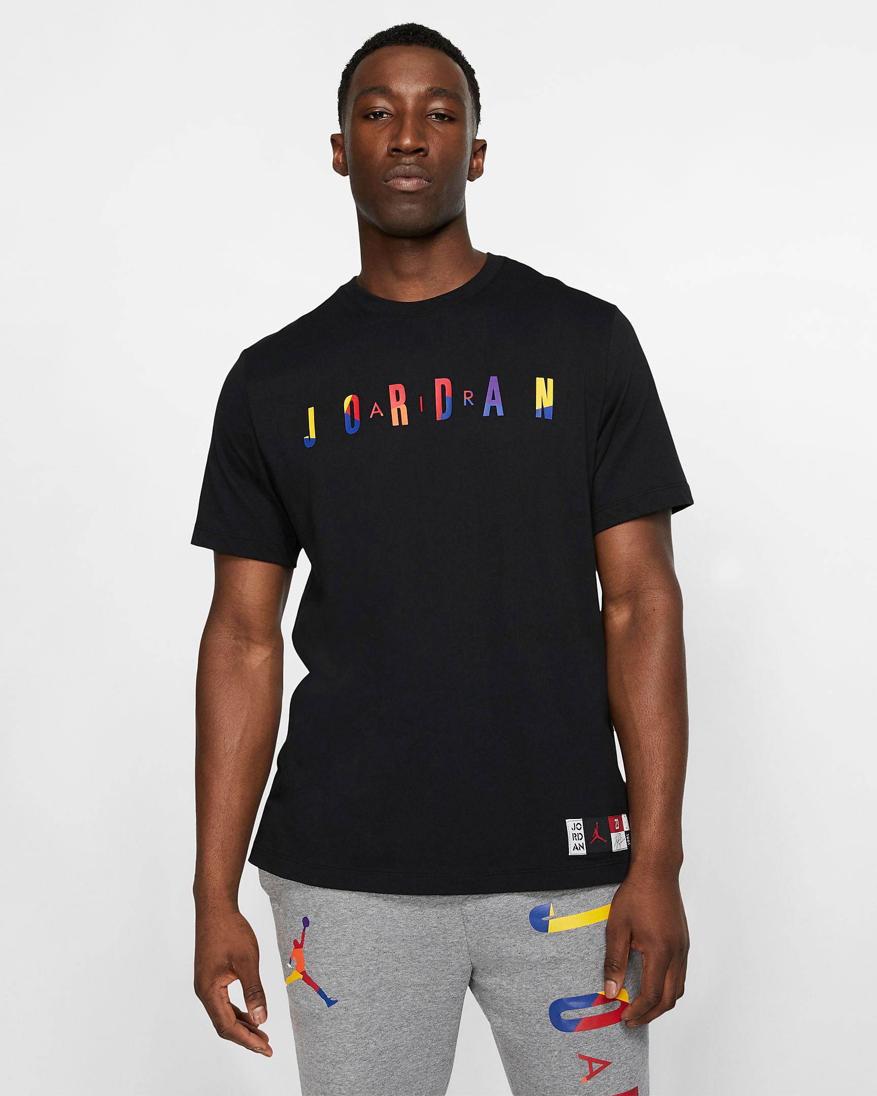 lakers-jordan-13-rivals-tee-shirt-black-1