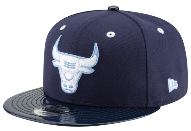 air-jordan-1-obsidian-unc-bulls-snapback-hat-match-1