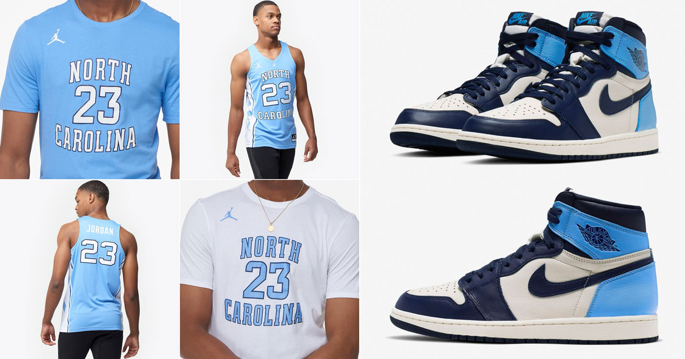 Air Jordan 1 High Obsidian Unc Shirts And Jerseys To Match