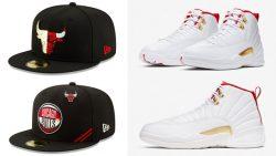 air-jordan-12-fiba-bulls-matching-hats