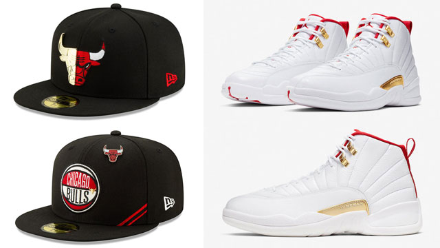 air-jordan-12-fiba-bulls-matching-hats