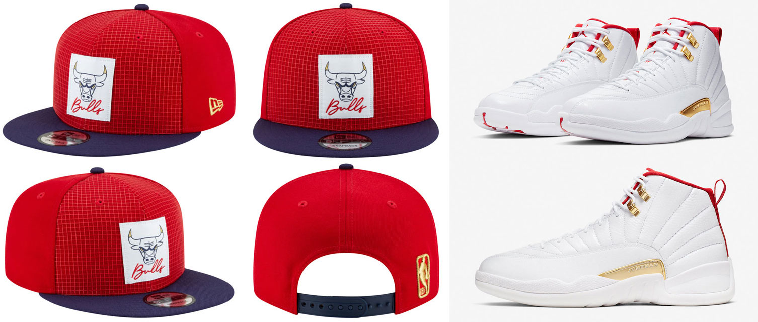 air-jordan-12-fiba-bulls-snapback-hat-match