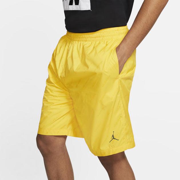 air-jordan-4-cool-grey-2019-yellow-shorts-1