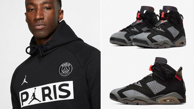 Air Jordan 6 Psg Paris Saint Germain Hoodie Sneakerfits Com