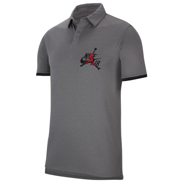 jordan-polo-shirt-grey-black-red
