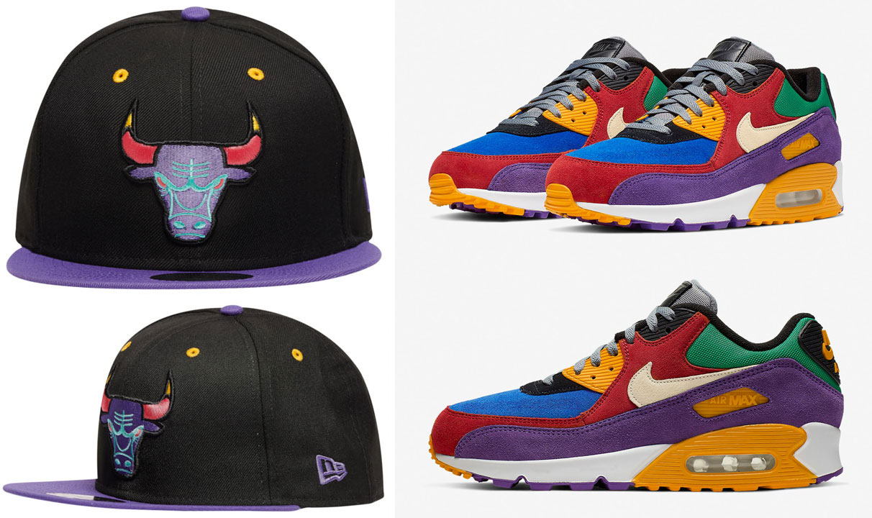 Nike Air Max 90 Viotech Snapback Hat Match - SneakerFits.com