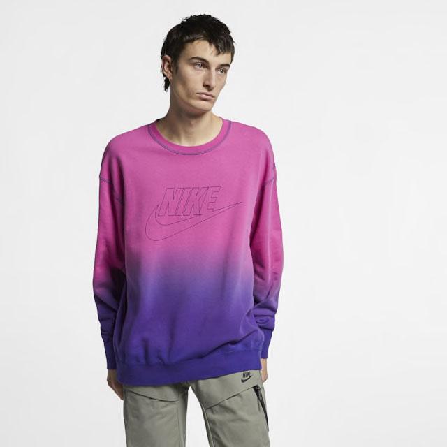 nike-foamposite-purple-camo-sweatshirt-match
