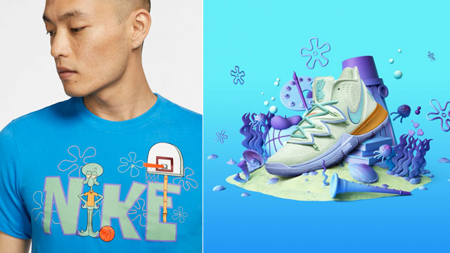 Conexión dolor de cabeza heroína  Nike Kyrie SpongeBob Squidward Tentacles Shirt Available Now |  SneakerFits.com