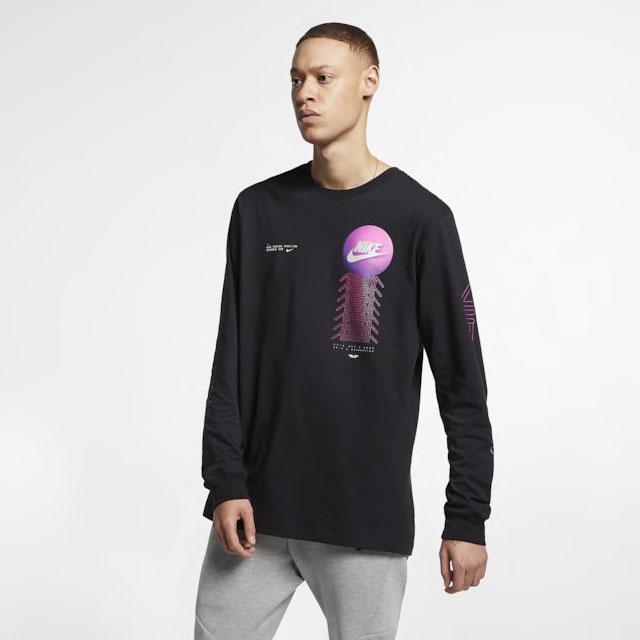 purple-camo-nike-foamposite-long-sleeve-shirt-match-1