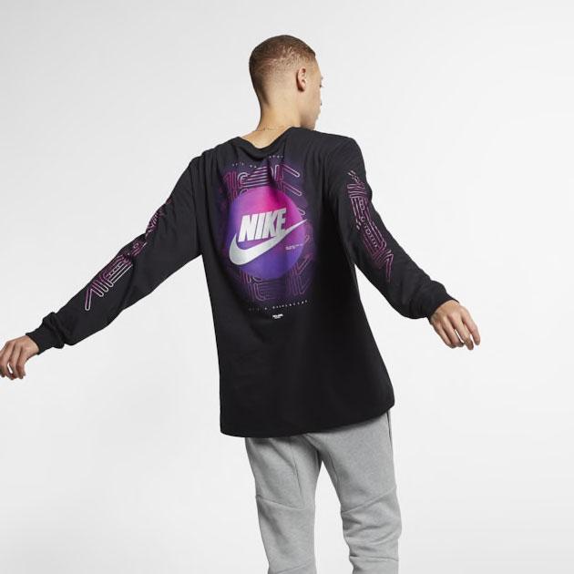 purple-camo-nike-foamposite-long-sleeve-shirt-match-2