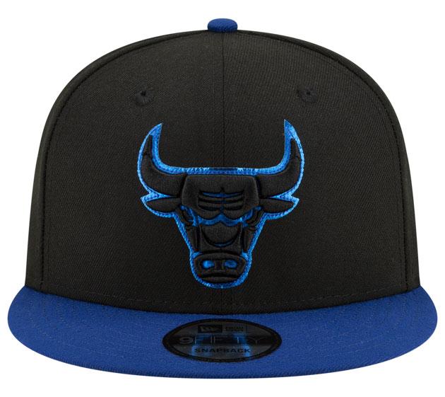 air-jordan-12-game-royal-bulls-snapback-hat-2