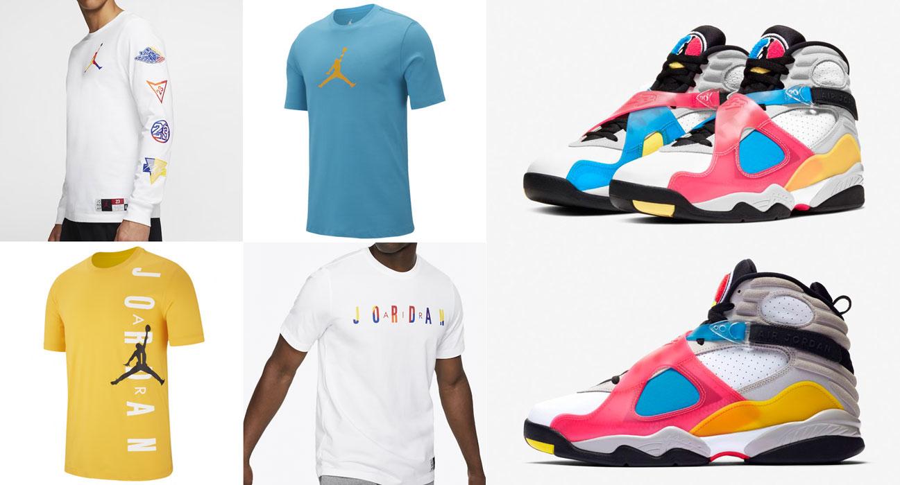 Air Jordan 8 Multi Color Shirts to