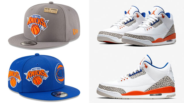jordan-3-knicks-matching-hats