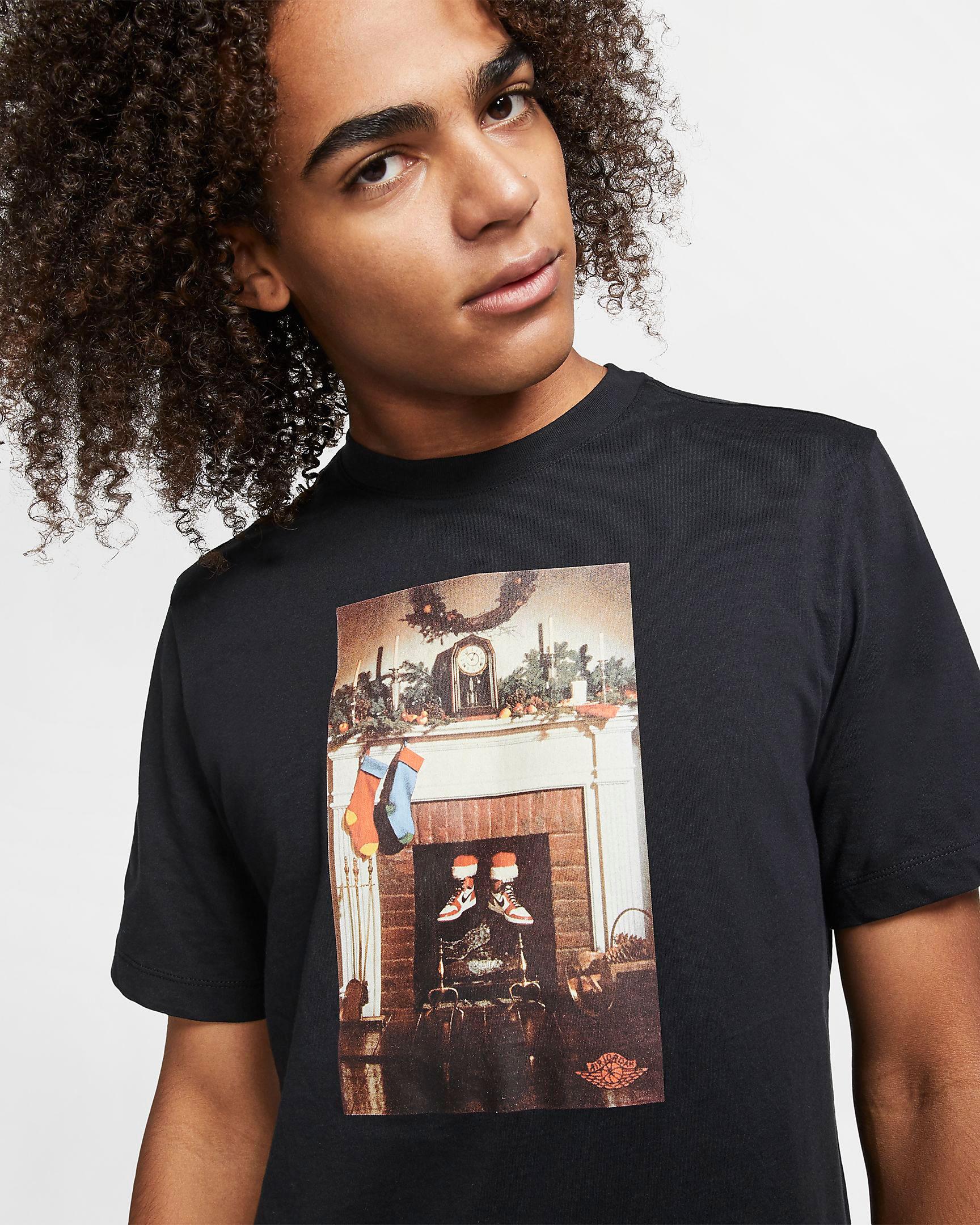 Air Jordan 1 Santa Christmas T Shirt
